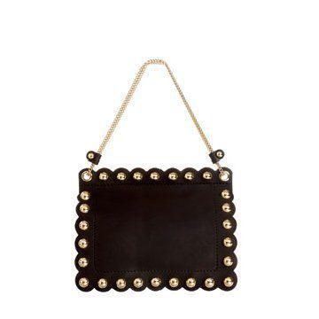 长方形黑色手拎包