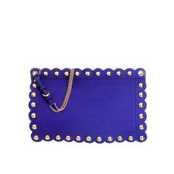 长方形蓝色手拿包