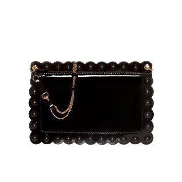 长方形黑色手拿包