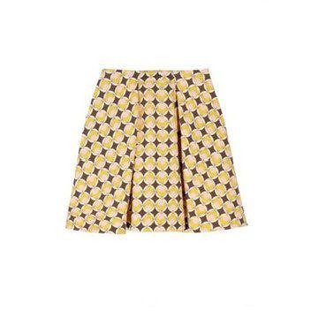 印花羊毛混纺裙