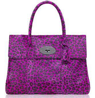 紫色豹纹Bayswater包