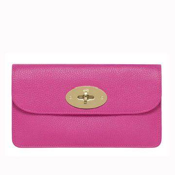 紫红色长方形皮包