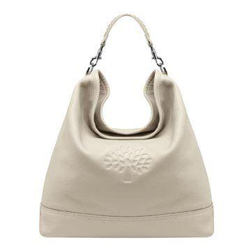 白色皮革手提包