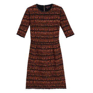 橘红色之纹连衣裙