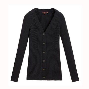 黑色毛衣开衫