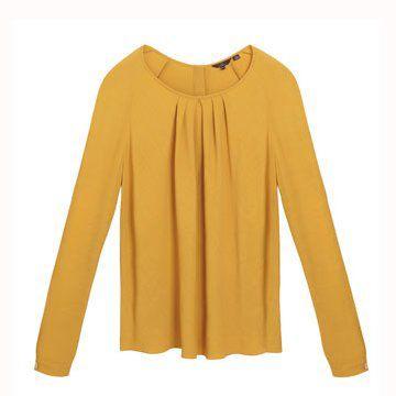 柠檬黄基本款上衣