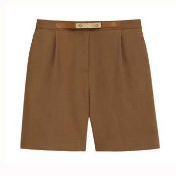 咖啡色五分裤
