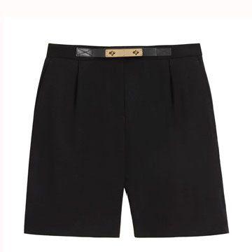 黑色五分裤