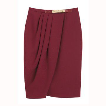枣红色半身裙