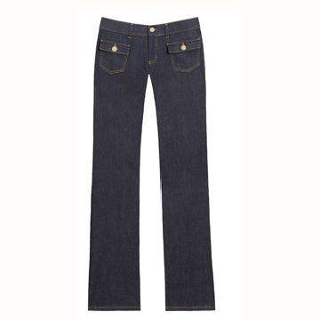 藏蓝色基本款牛仔裤
