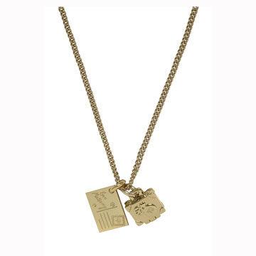 金属锁项链