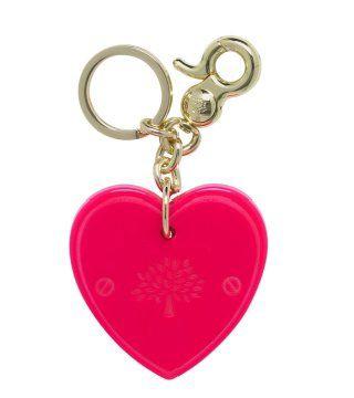粉红色心形钥匙扣