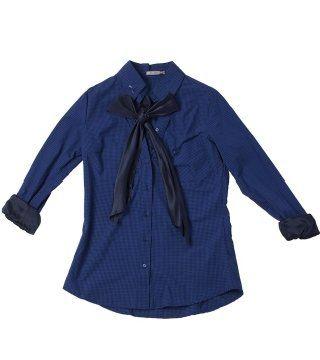 蝴蝶系领衬衫