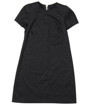 圆领短袖A字连衣裙
