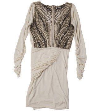 细密镶珠连衣裙