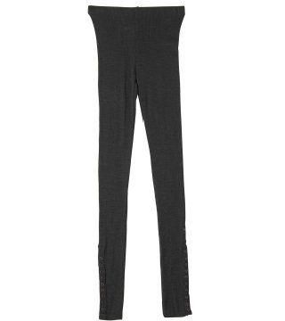 黑灰色配扣legging