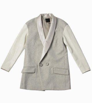 灰白相间西装外套