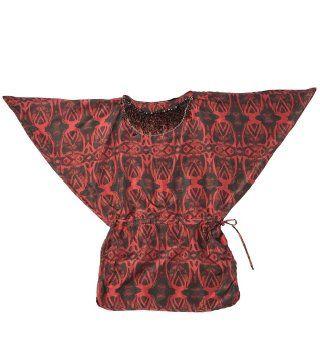 绣珠印花蝙蝠衫