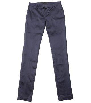 蓝紫色直筒裤