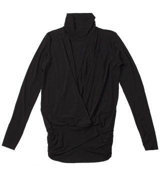 黑色高领针织衫
