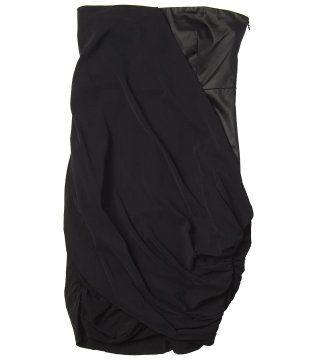 黑色抹胸连衣裙