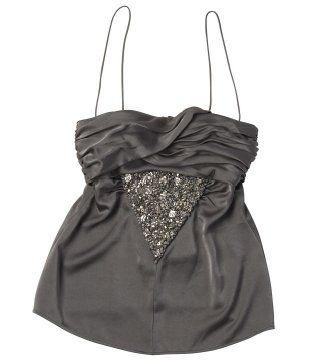珠扣装饰吊带背心