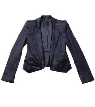 蓝紫色丝质短西装
