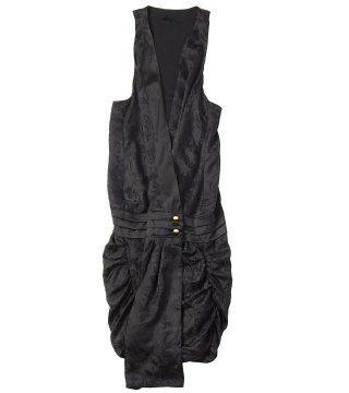 丝质无袖连衣裙