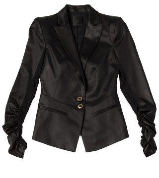黑色褶袖小西装