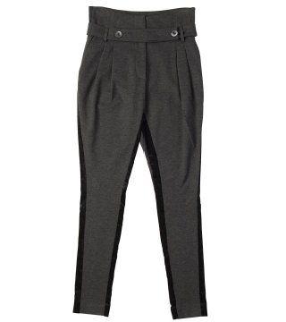 高腰窄腿裤
