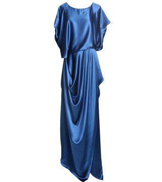 蓝宝石色礼服裙