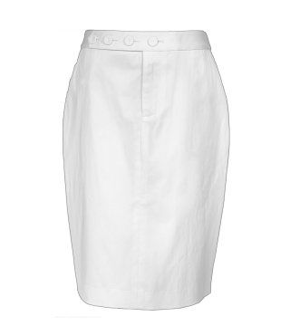 象牙白铅笔裙