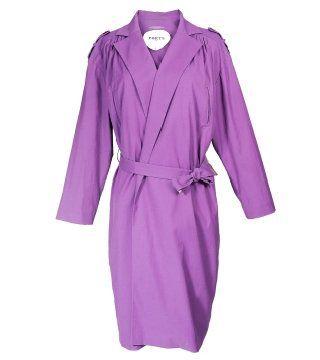 紫水晶色束腰风衣