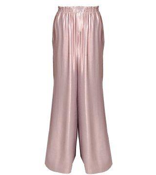 贝壳粉宽版长裤