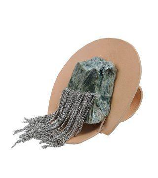 金属链矿石戒指