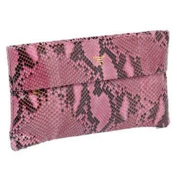 2011年春夏海棠粉色蟒蛇皮手袋
