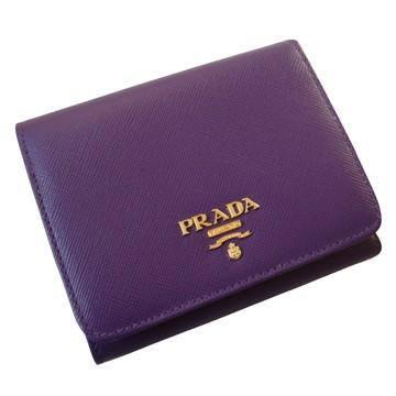 2011年紫色斜纹牛皮三折钱包