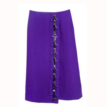 蓝紫色半身裙