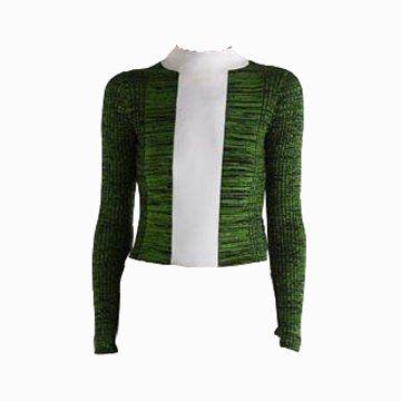 绿色针织T恤