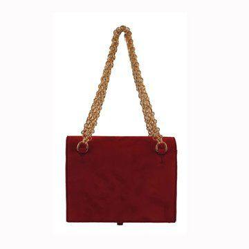 方形红色手拎包