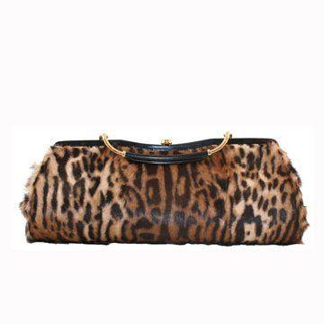 豹纹小型手拎包