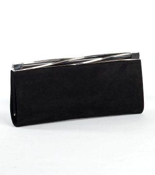 造型搭扣黑色晚装包