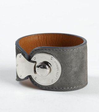 金属扣饰灰色手环