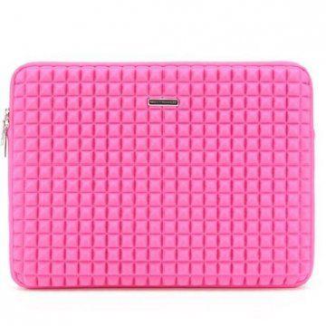 粉色格子手包