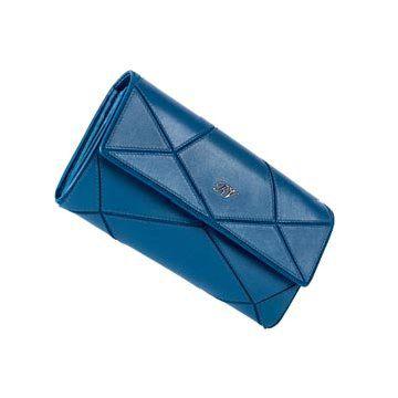 蓝色牛皮手拿包