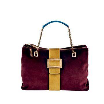紫色丝绒手提包