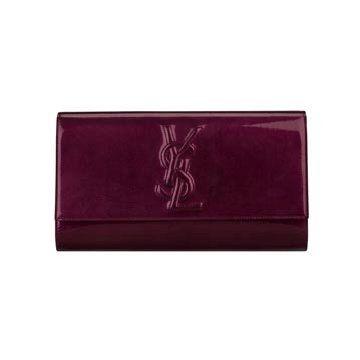 暗紫色漆皮钱包