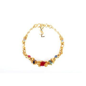 金色宝石项链