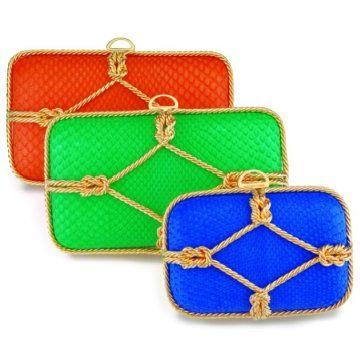 绳结款式手拿包