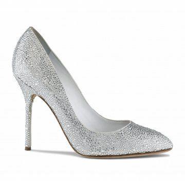 水晶装饰尖头高跟鞋